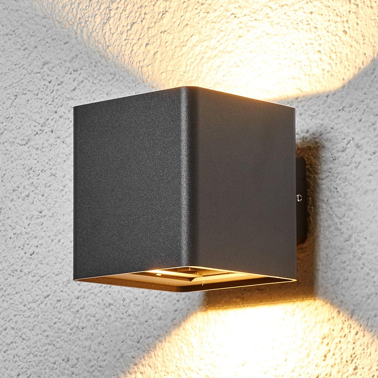 Koksgrå LED-utevegglampe Aaron