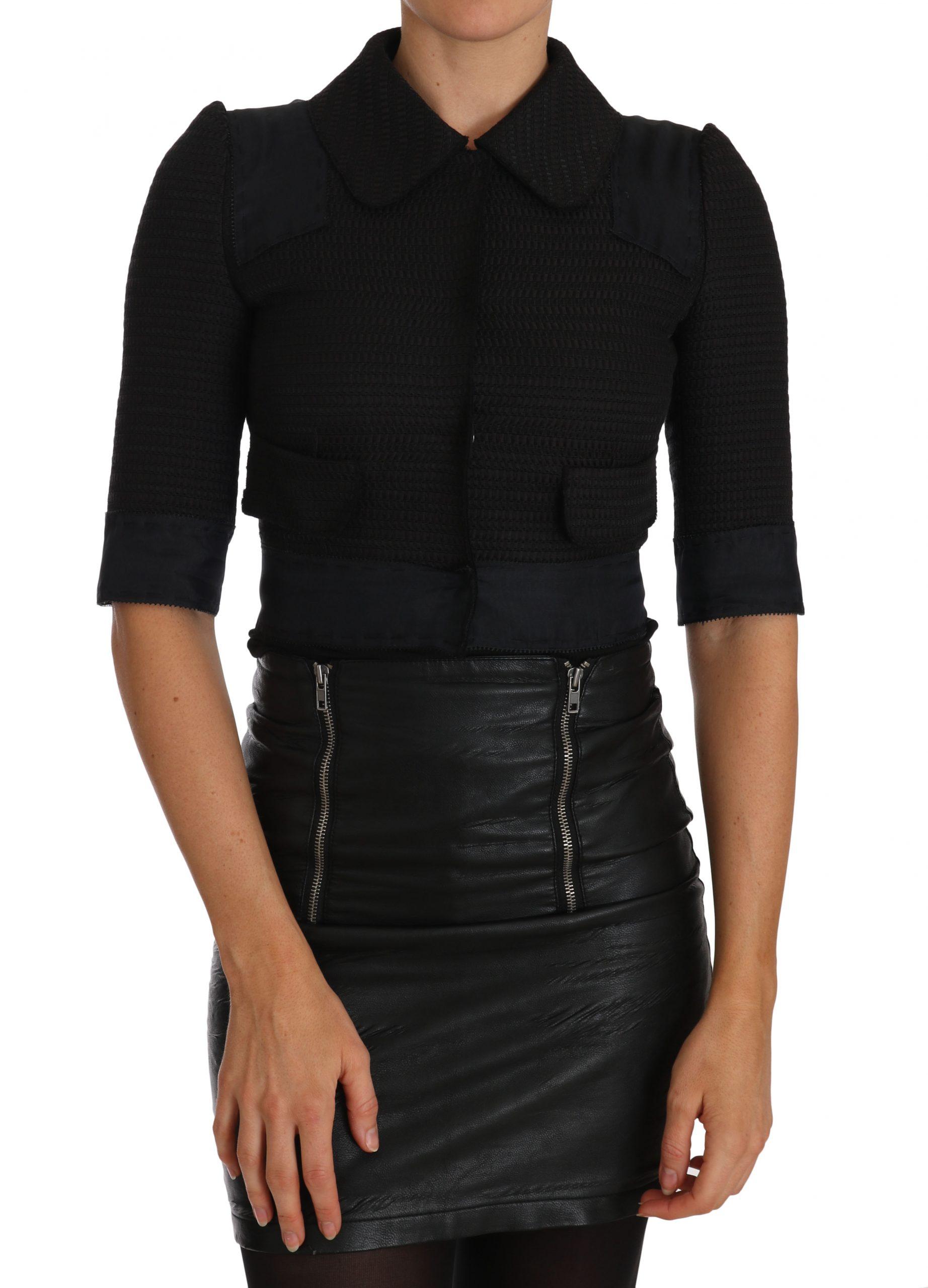 Dolce & Gabbana Women's Short Cropped Blazer Black TSH2296 - IT40 S