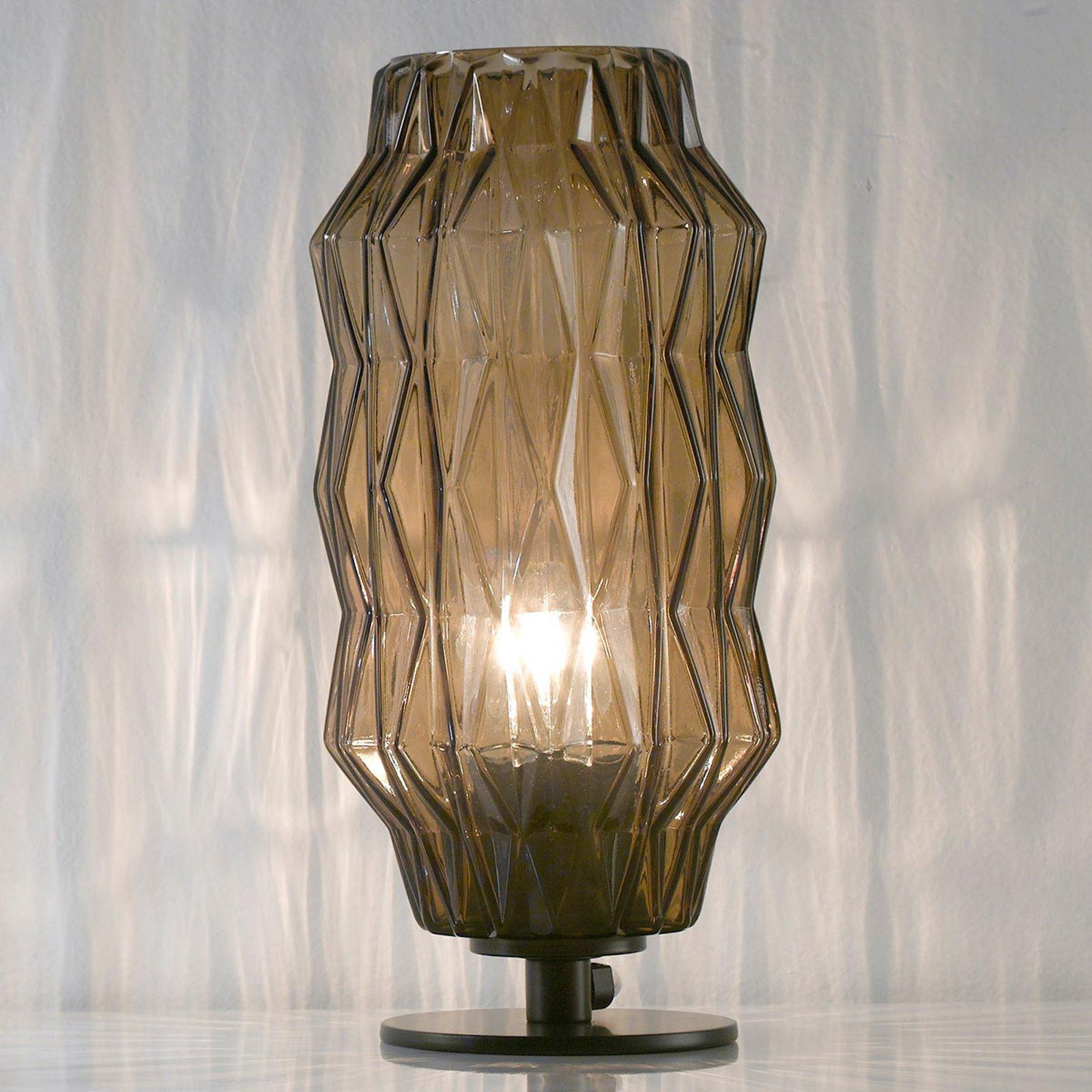 Bordlampe Origami, gråbrun