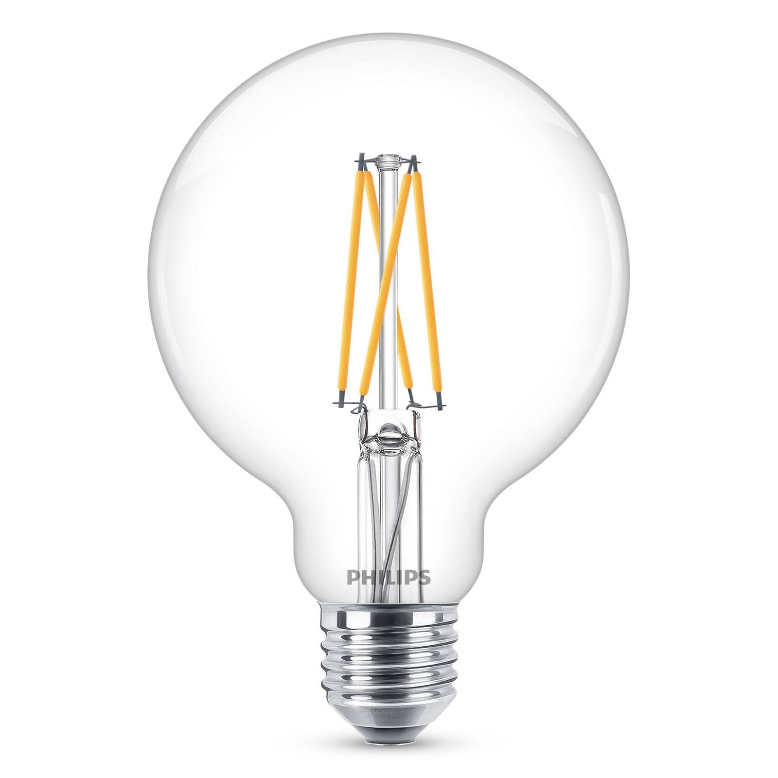 Philips E27 6W -LED-globe-lamppu G95 kirkas 927