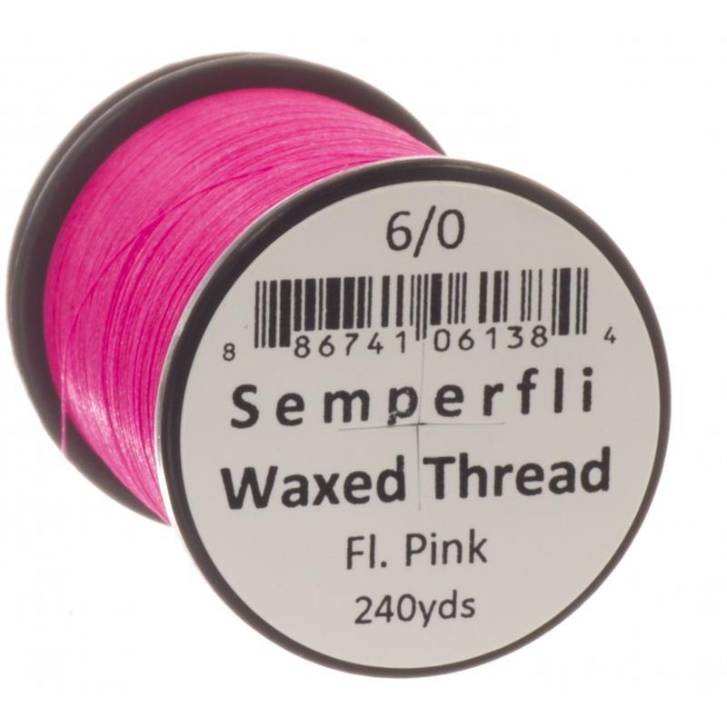 Semperfli Classic Waxed Thread Fluoro Pink 6/0