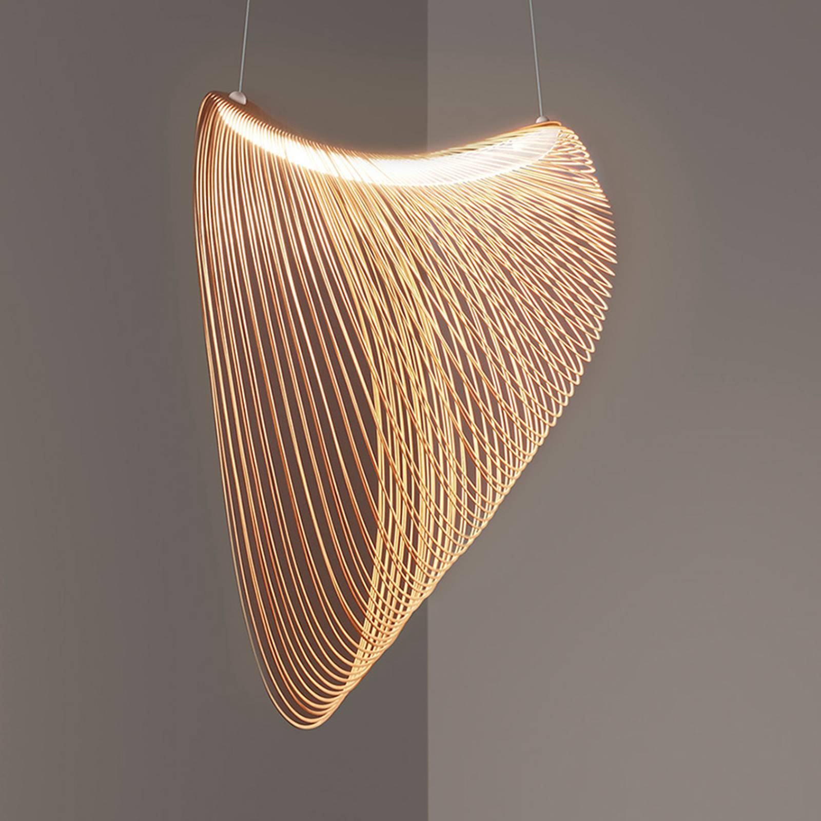 Luceplan Illan-LED-riippuvalo himmennettävä Ø100cm