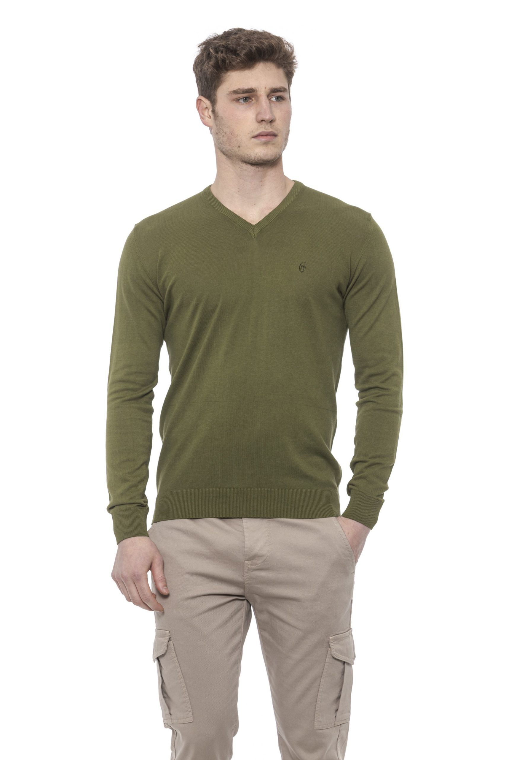 Conte of Florence Men's Sweater Green CO1376422 - S
