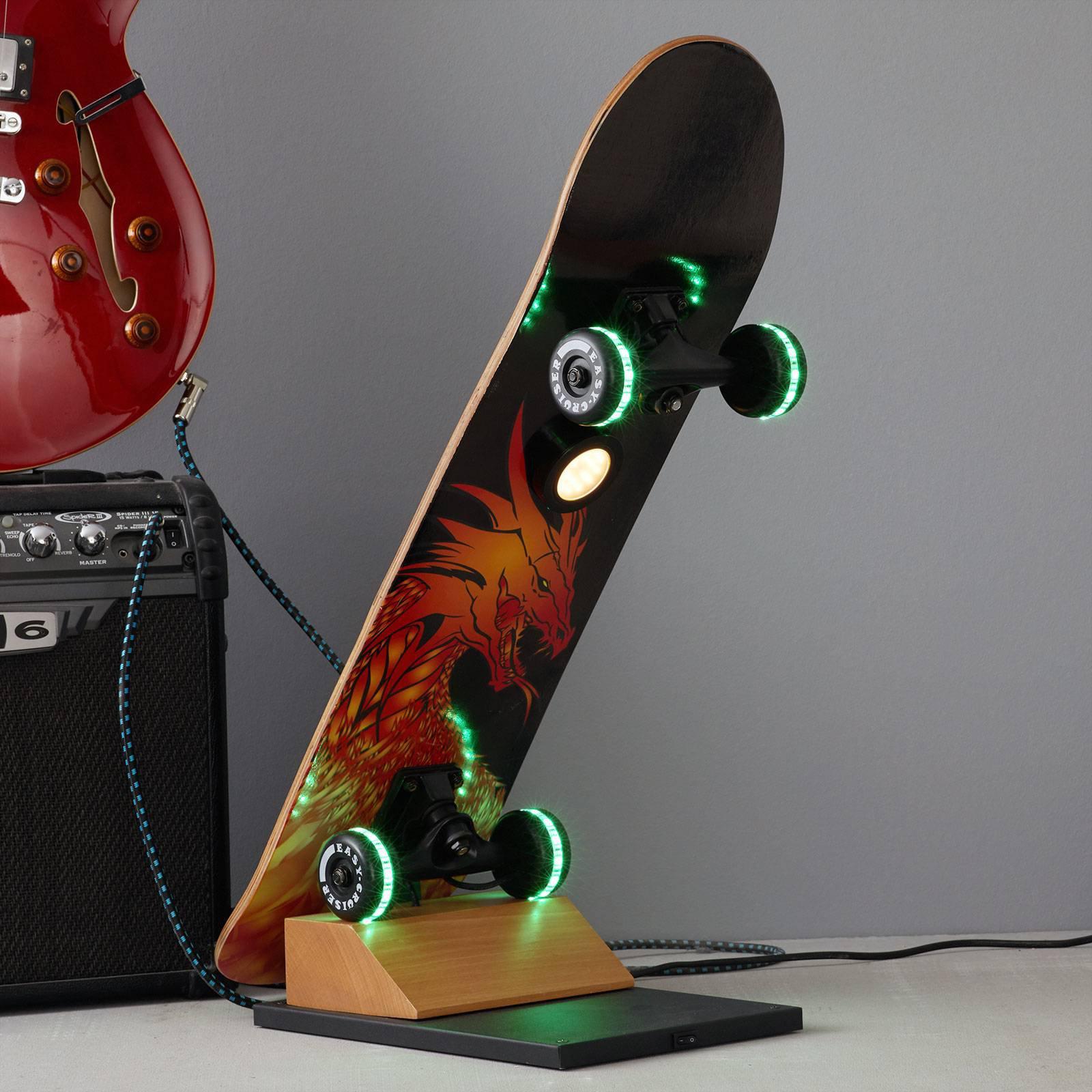Skateboard-LED-bordlampe Easy Cruiser Dragon