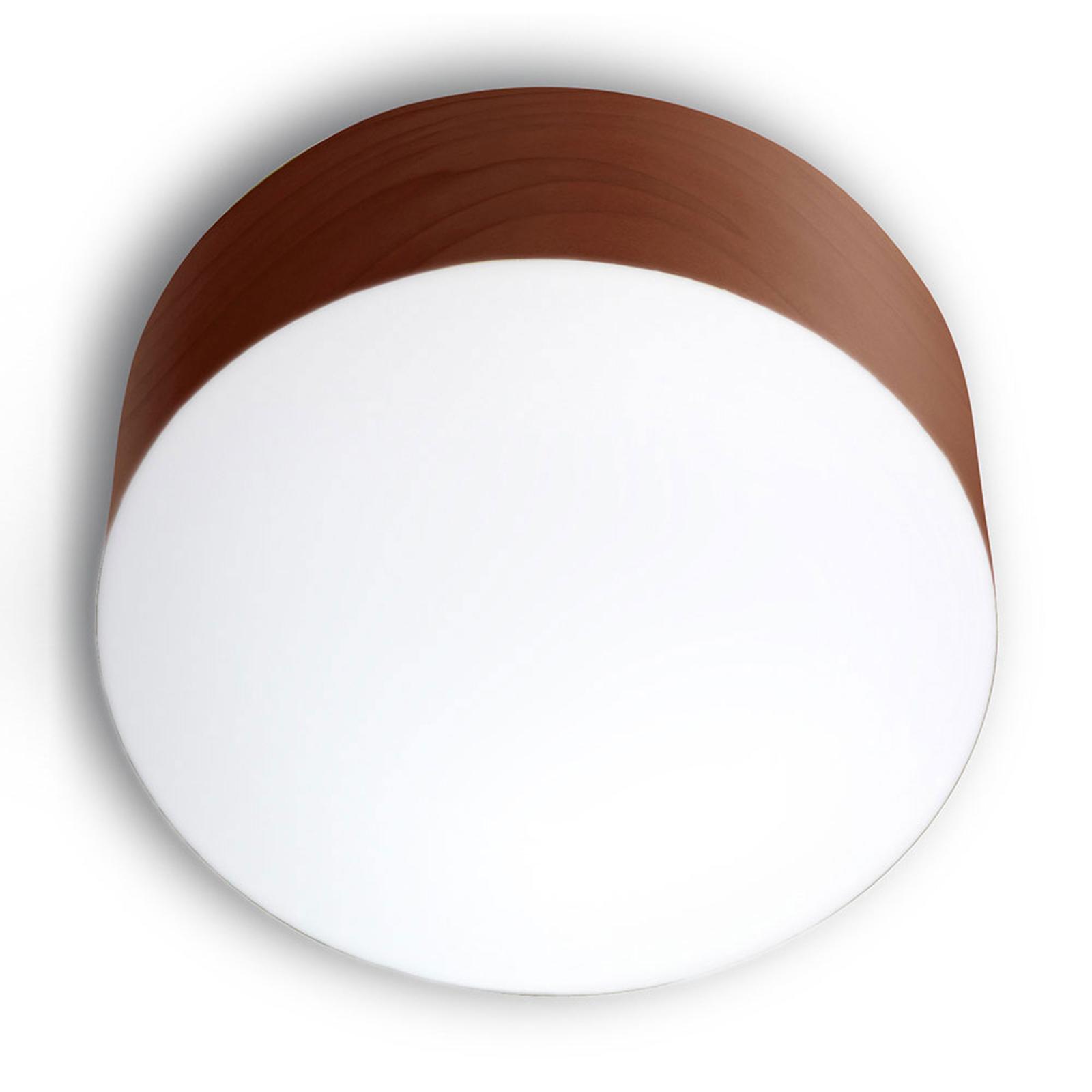 LZF Gea -kattovalaisin 0–10 V dim, Ø 30 cm, suklaa