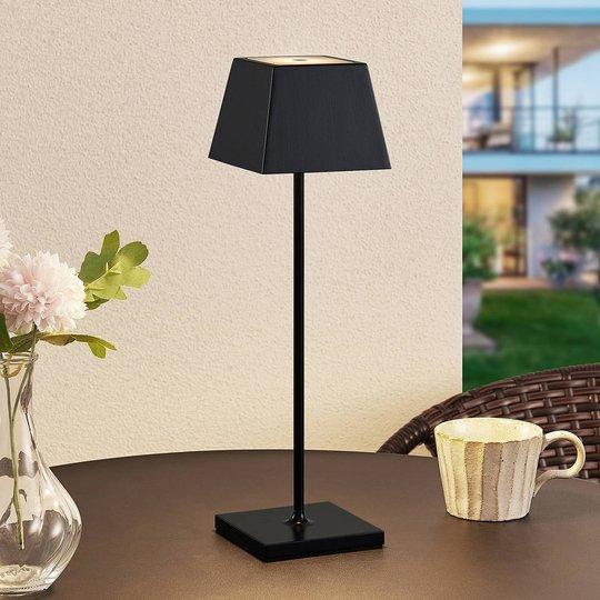 Lucande Patini LED-bordlampe for utebruk, svart