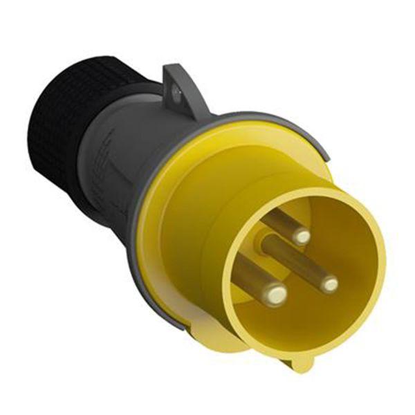ABB 2CMA193500R1000 Pistotulppa 2-napainen, 16 A, CEE 216P4, keltainen