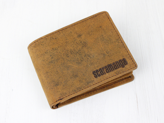 Men's Wallet with Coin Pocket Brown
