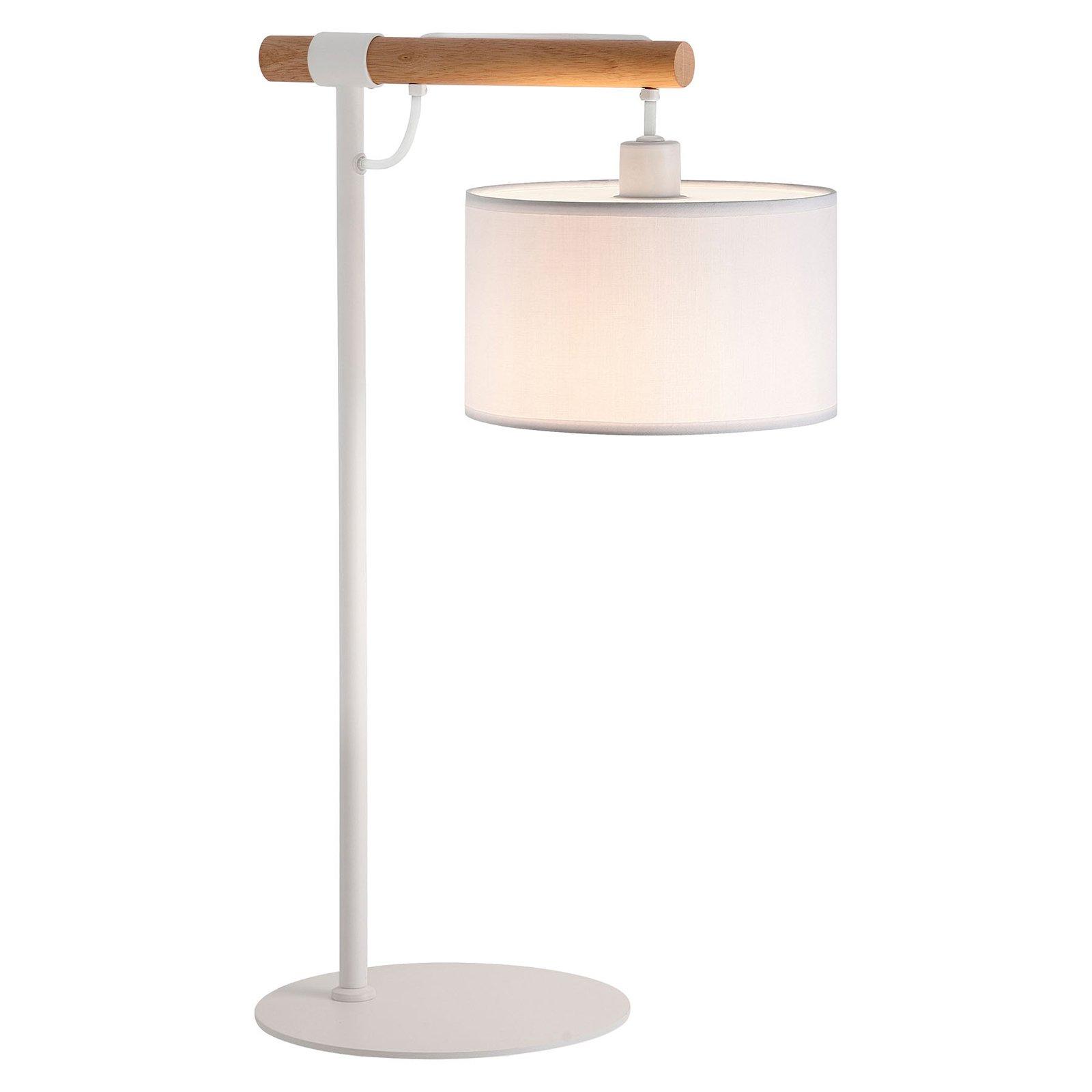 Bordlampe Romeo med tekstilskjerm, hvit