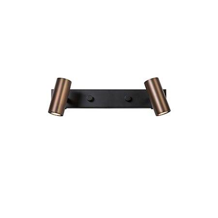 Cato Vegglampe LED Oksidert/svart Dobbel