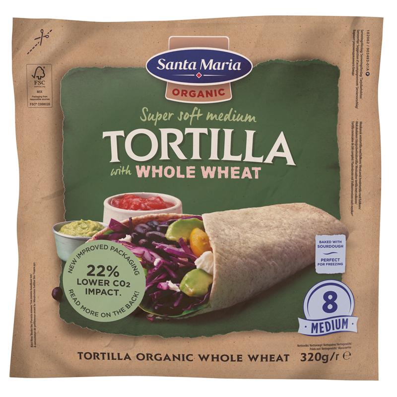 Eko Tortillabröd Fullkorn - 23% rabatt
