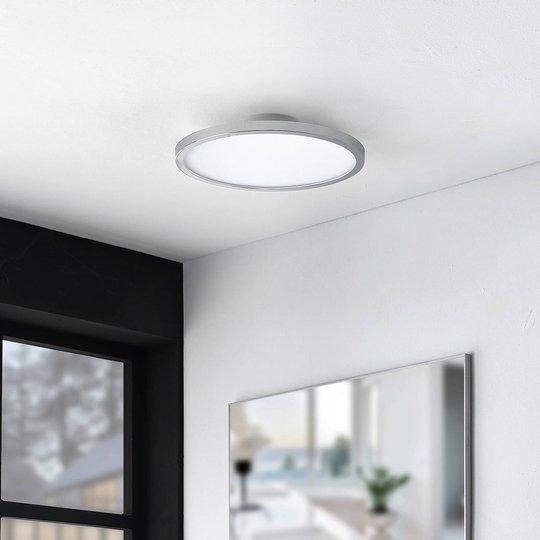 Lindby Skrolla LED-taklampe til bad, krom, rund