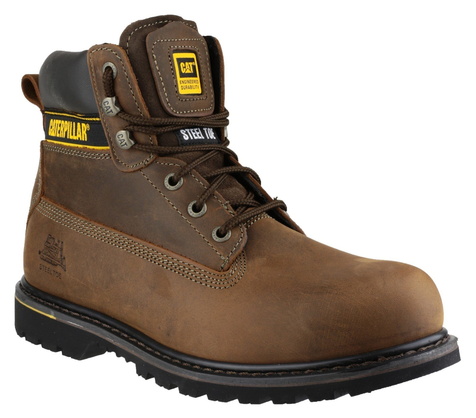 Caterpillar Men's Holton Lace Up Boot Brown 12807 - Brown 6