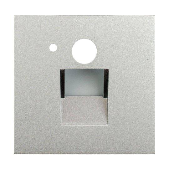 Arcchio Neru LED-downlight, sensor, kantet, sølv