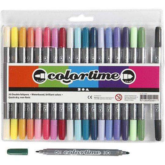 Colortime Dobbeltusj Kompletterende Farger 20 stk