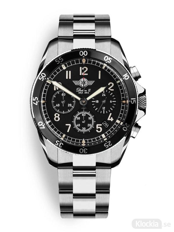 MALM Dalton 2 Black Chronograph 41 Bracelet MW-DAII39SWAF-LTD