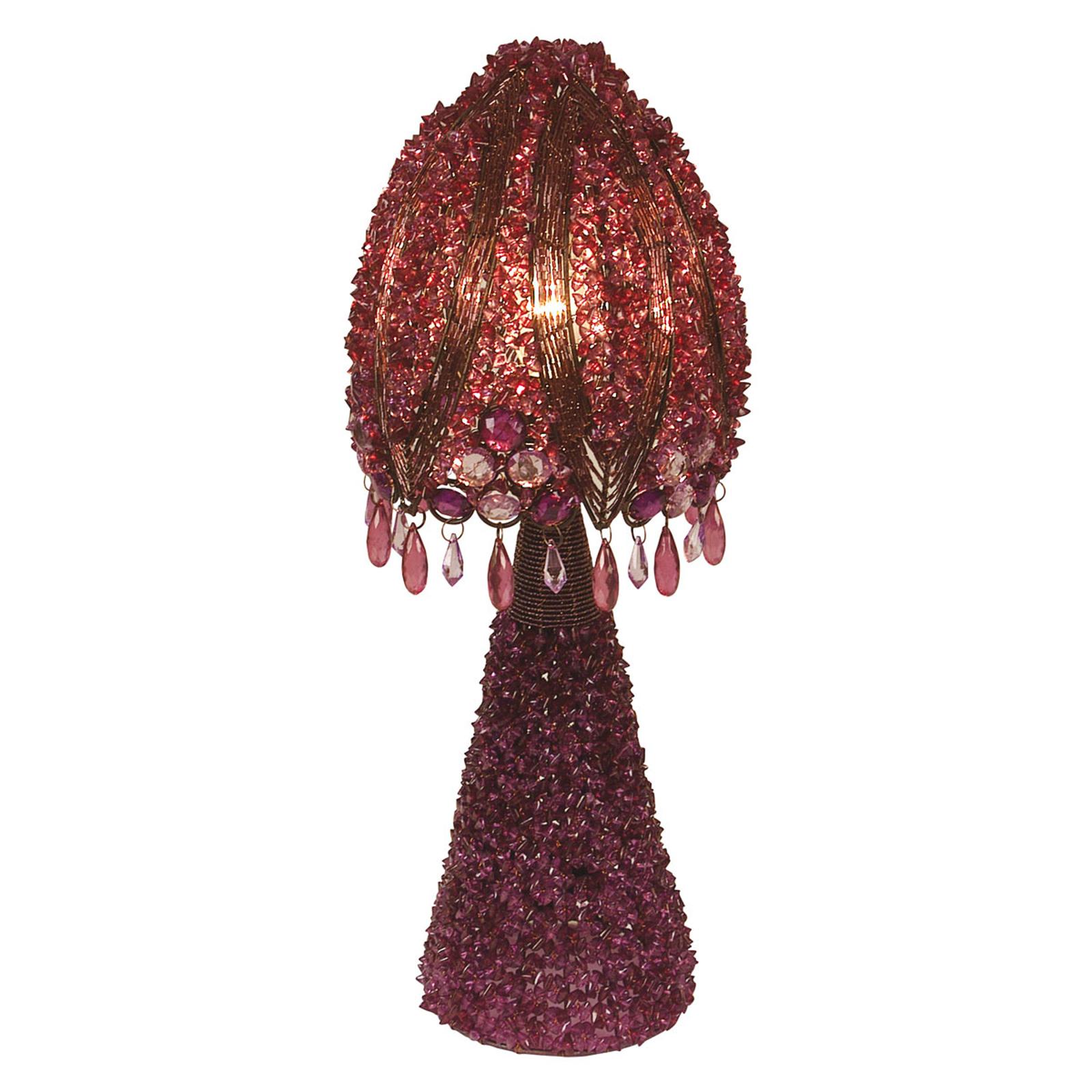 Perla-pöytävalaisin 45 cm, violetti