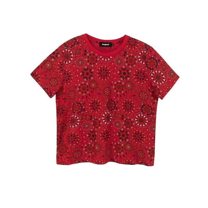 Desigual Women's T-Shirt Various Colours 189400 - red M