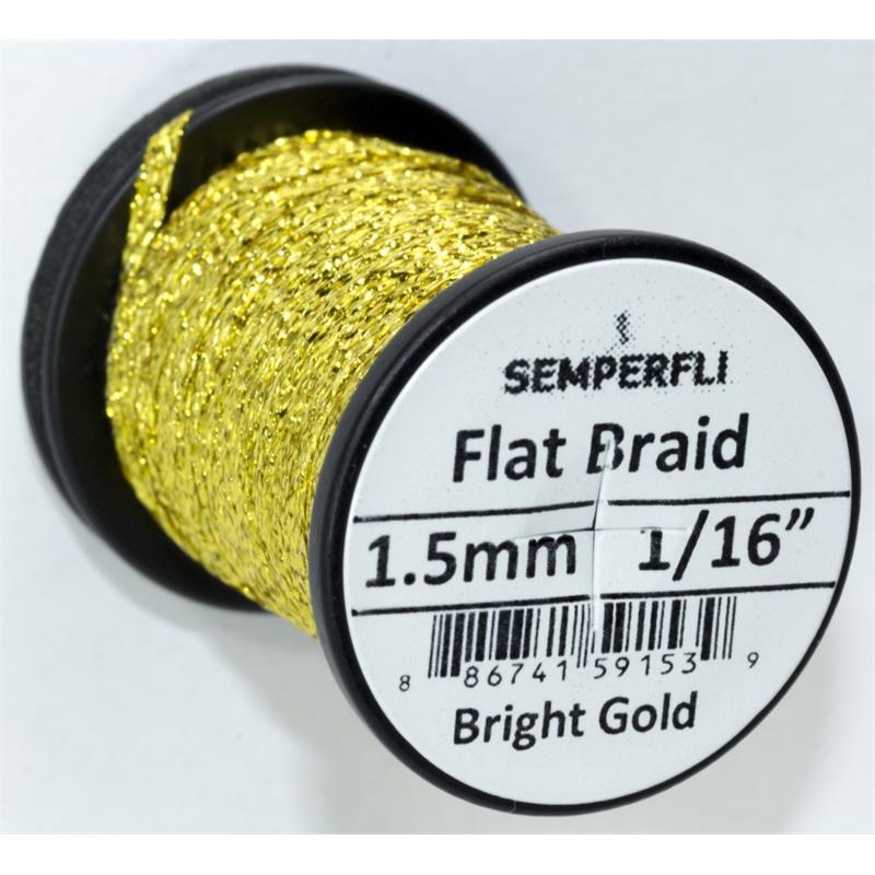 Semperfli Flat Braid 1,5mm Bright Gold