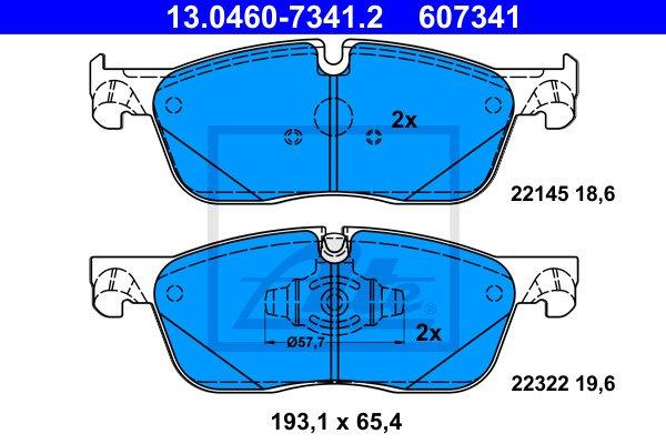 Jarrupalasarja, levyjarru ATE 13.0460-7341.2