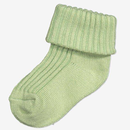 Ensfargede sokker baby grønn