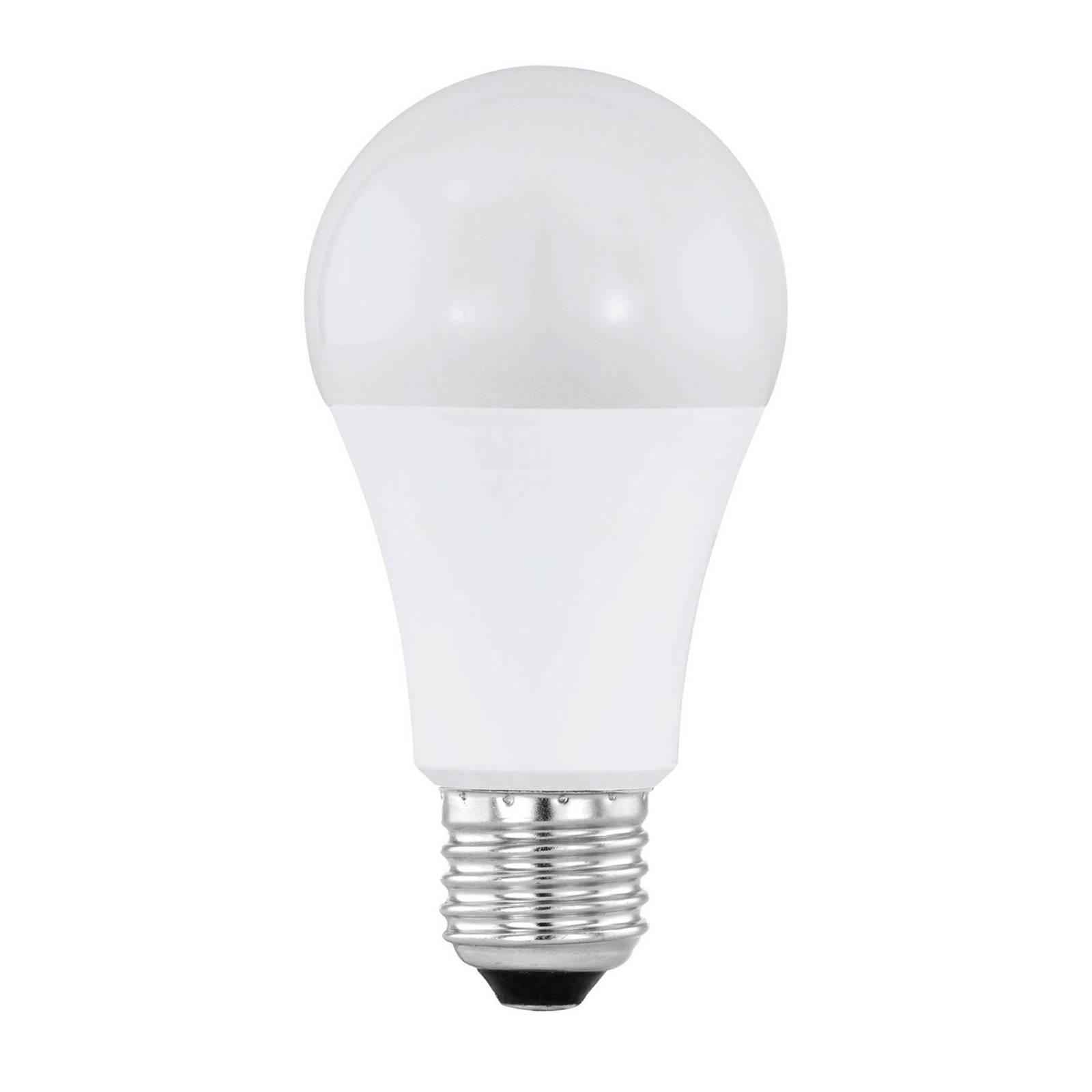 LED-lamppu E27 10W 2 700 K, tunnistimilla