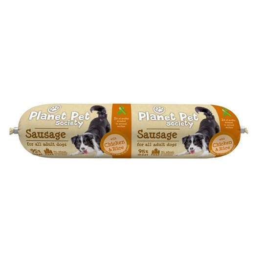 Planet Pet Society Sausage with Chicken & Rice 800 g