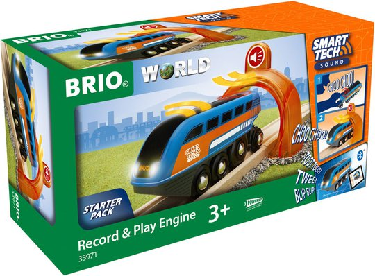 BRIO 33971 Smart Tech Lokomotiv Med Innspilling Og Interaktive Funksjoner