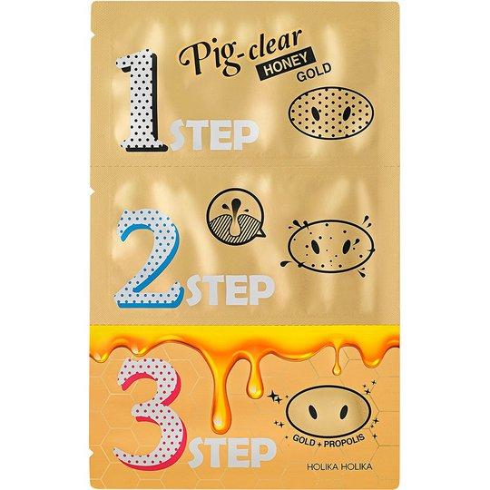 Pig Nose Clear Blackhead 3-Step Honey Gold, 8 gr Holika Holika Kasvonaamio