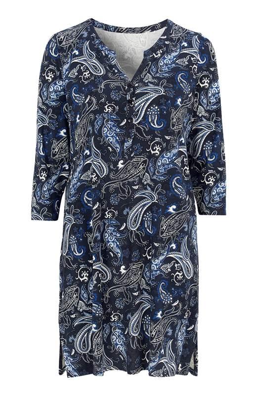 Cellbes Mönstrad tunika i trikå Blå Paisley