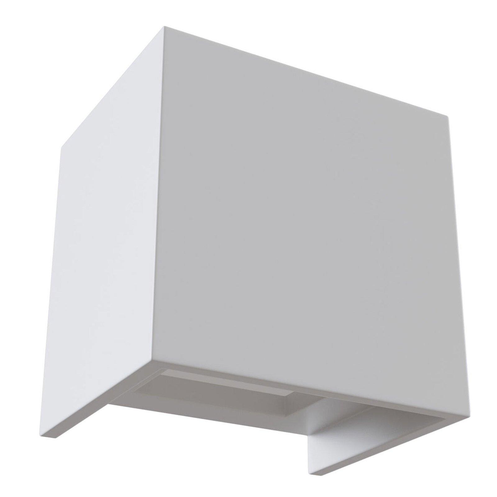Parma LED-vegglampe av gips, 10x10 cm