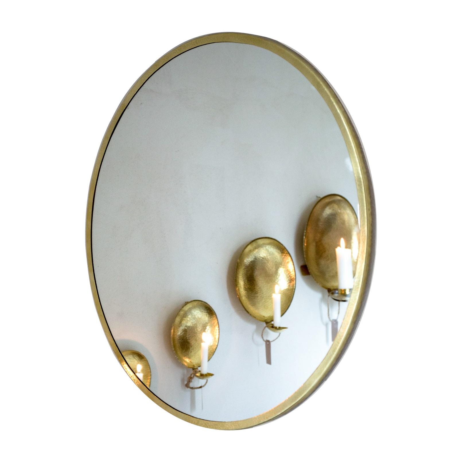 Malin Appelgren Spegel 50 cm mässing