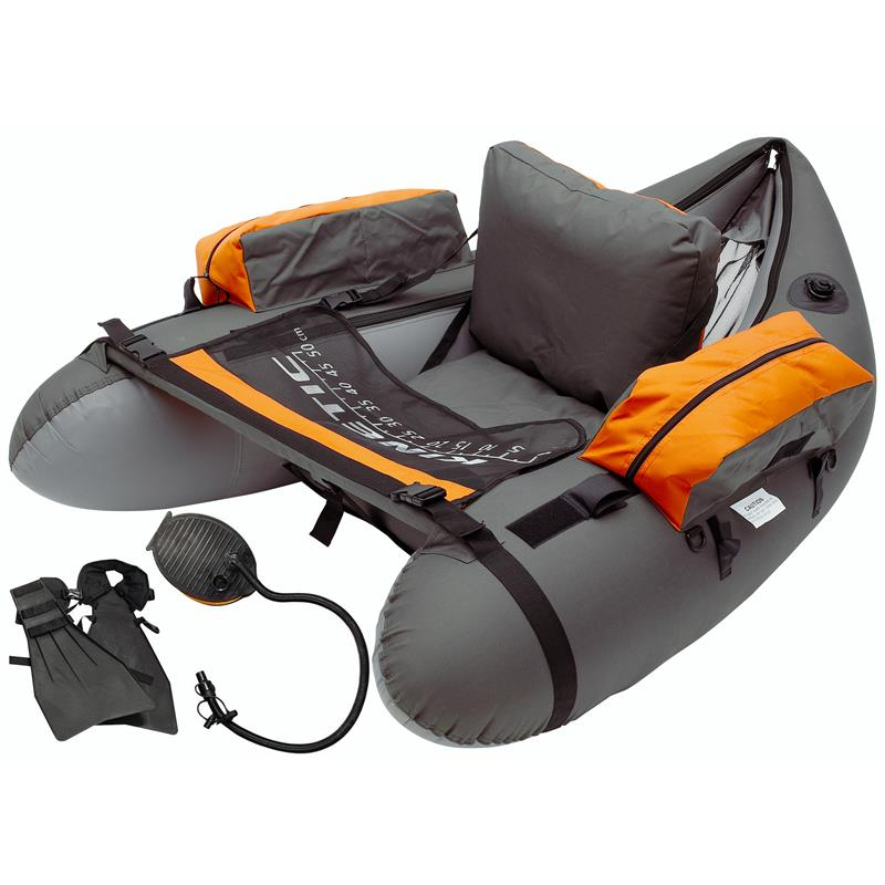 Kinetic Fish Hunter Bellyboat pakke Med svømmeføtter og pumpe