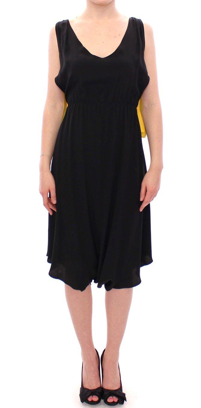 Lamberto Petri Women's Silk Shift Sheath Coctail Dress Black GSD12588 - IT42 M