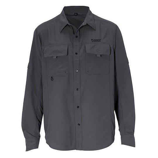 Fladen UV50+ fiskeskjorta, grå