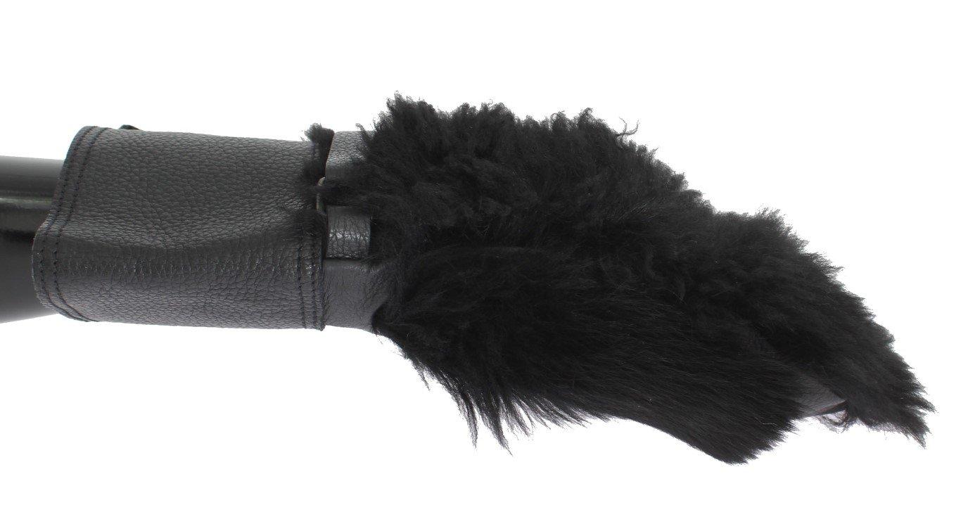 Dolce & Gabbana Men's Leather Shearling Fur Gloves Black LB116 - 8|S