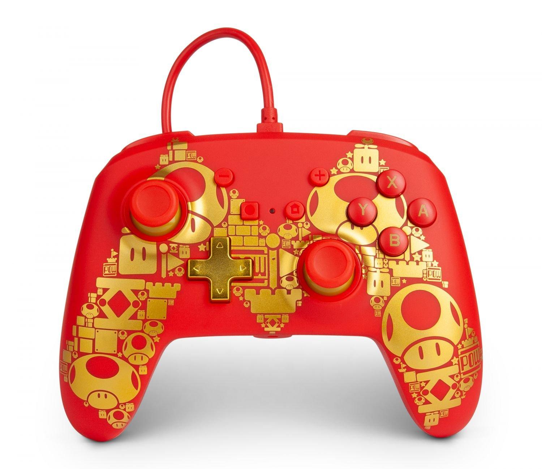 PowerA Nintendo Switch Enh Wired Controller - Golden Mario