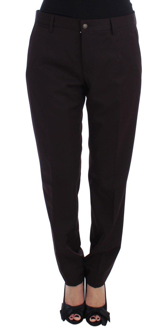 Dolce & Gabbana Women's Stretch Dress Trouser Purple SIG17488 - IT48 | XL