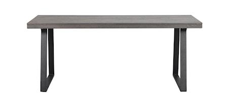 Brooklyn Matbord Brunbetsad Ek/U-ben Svart Metall 170x95 cm