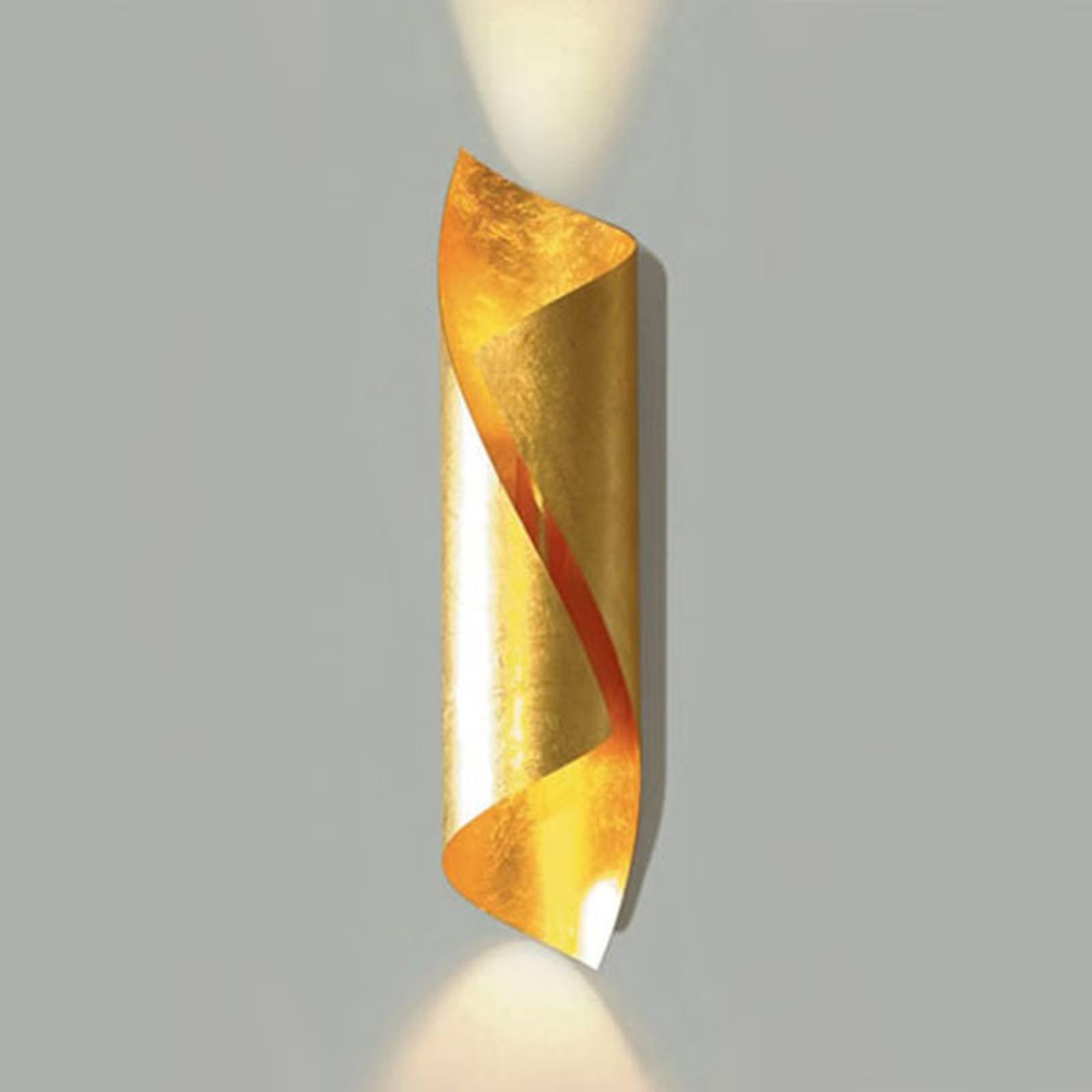 Knikerboker Hué LED-vegglampe høyde 54 cm bladgull