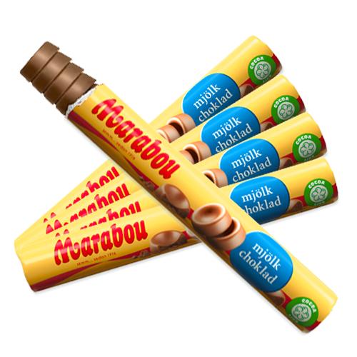 5 st - Marabou Mjölkchokladrulle 74g