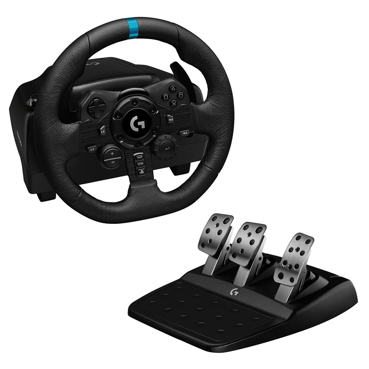 Logitech - G923 Racing Wheel and Pedals for PS5, PS4 and PC - USB