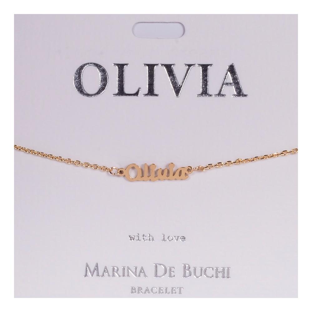 Namnarmband Guld - Olivia