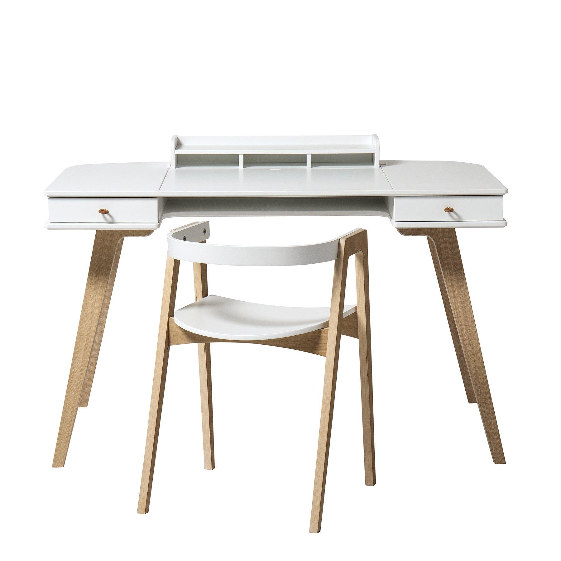 Skrivbord Wood 72,6 och skrivbordsstol, Oliver Furniture