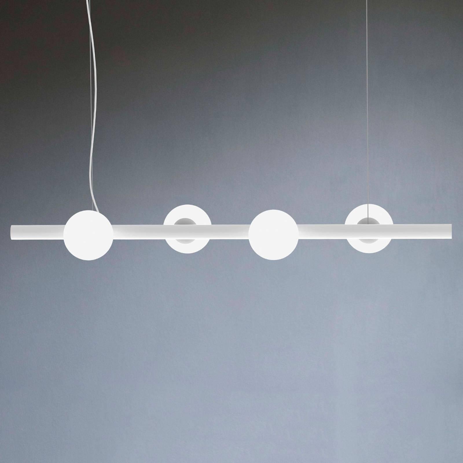 Riippuvalaisin Tin Tin, 4-lamppuinen, valkoinen