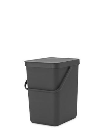 Sort & Go Avfallsbeholder Grå 25 liter
