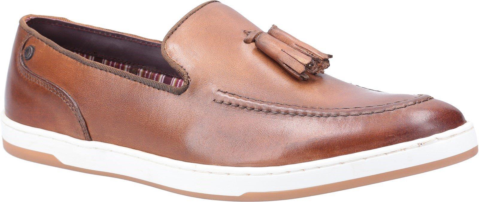 Base London Men's Pogo Burnished Slip On Loafer Various Colours 30446 - Tan 6
