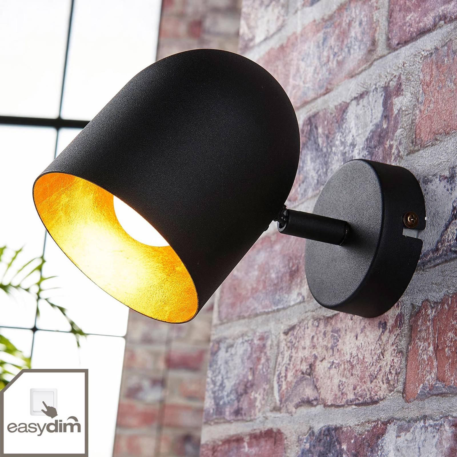 Musta-kultainen LED-spotti Morik, easydim