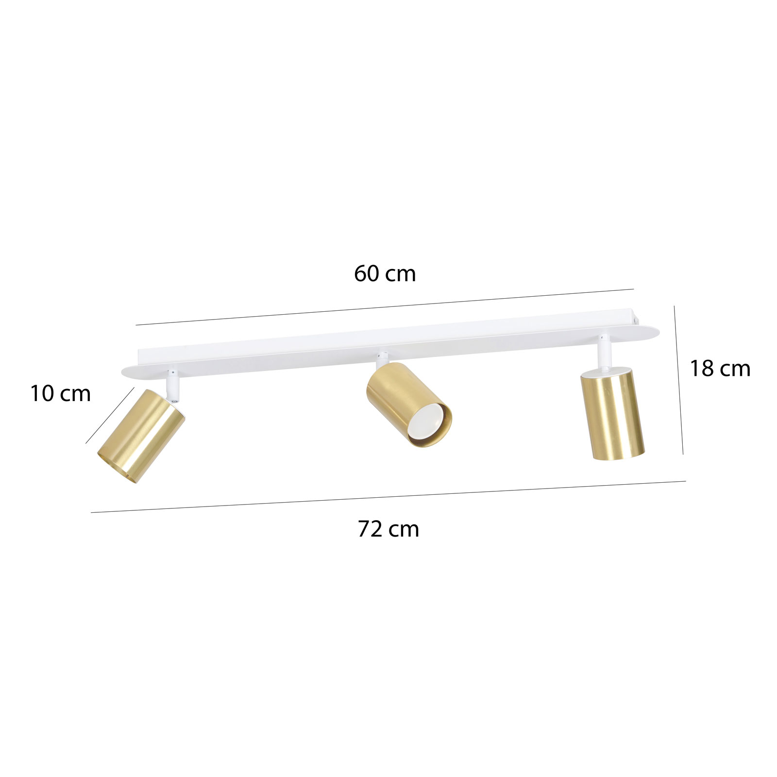 Kattokohdevalo Zen 3, 3-lamppuinen, valkoinen