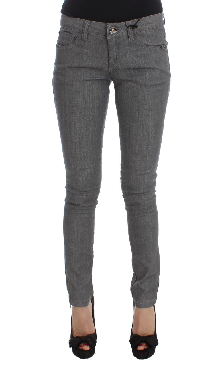 Costume National Women's Cotton Blend Slim Fit Jeans Gray SIG30113 - W26